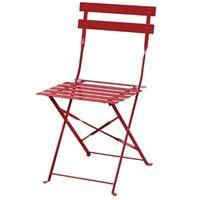 Stahlstühle Bolero rot klappbar 2 Stück