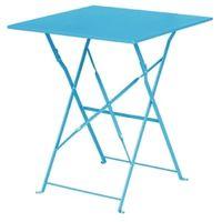 Stahltisch Bolero viereckig azurblau, klappbar
