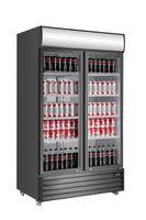 Getränkekühlschrank ECO 1000 mit Klapptüren und Leuchtaufsatz