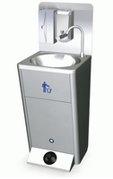 Mobiles Handwaschbecken mit Fußbedienung, Papiereimer und Seifen- und Papierspender GLC0009/FN