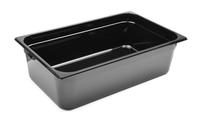 Bac professionnel Gastronorm en polycarbonate noir - GN1/1-150