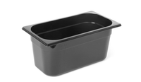 Bac professionnel Gastronorm en polycarbonate noir - GN1/3-150