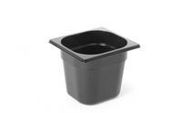 Bac professionnel Gastronorm en polycarbonate noir - GN1/6-150