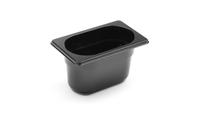Bac professionnel Gastronorm en polycarbonate noir - GN1/9-100