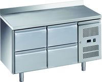 Table réfrigérée ECO0/4 avec dosseret - GN 1/1