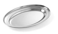 Edelstahl Serviertablett oval 300 x 220 mm