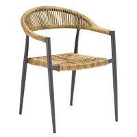 Chaise de terrasse Jonah nature – 4 pièces