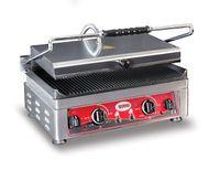 Grill panini électrique GMG 45x27 rainuré avec 2 régulateurs de température