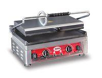 Grill panini électrique GMG 45x27 lisse en bas, rainuré en haut avec 2 régulateurs de température