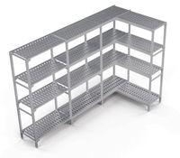 Rayonnage de cellule de refroidissement Profi 19 Kit 1, 2225/1450x400x1670mm, 4étagères