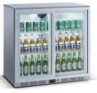 Barkühlschrank ECO 208 Liter mit Schiebetüren silber