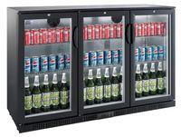 GGG Barkühlschrank ECO 330 Liter mit Klapptüren schwarz