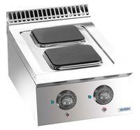 Cuisinière électrique Dexion Lux 700 - 40/73, plaques de cuisson carrées