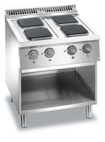 Cuisinière électrique Dexion Lux 700 - 70/73, plaques de cuisson carrées