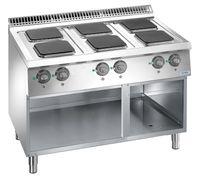 Cuisinière électrique Dexion Lux 700 - 110/70, plaques de cuisson carrées