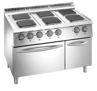Cuisinière électrique Dexion Lux 700 - 110/73 avec four électrique - plaques de cuisson carrées