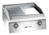 Elektrogrillplatte Dexion Lux 700 - 70/73 ½ glatt, ½ gerillt  - Tischgerät