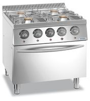 Cuisinière à gaz Dexion Lux 700 - 70/73 28kW avec four électrique à air pulsé