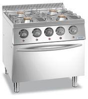 Cuisinière à gaz Dexion Lux 700 - 70/73 28kW avec four électrique