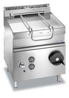 Sauteuse basculante à gaz Dexion Lux 700 - 80/73 60 litres, poêle en acier inoxydable de haute qualité