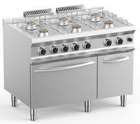 Cuisinière à gaz Dexion Lux 700 - 110/73 avec four à gaz - 48 kW