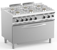 Cuisinière à gaz Dexion Lux 700 - 110/73 avec four à gaz - 50 kW