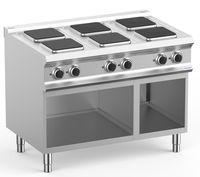 Cuisinière électrique Dexion Lux 700 - 110/70, Planchas de cuisson carrées - 13,5 kW