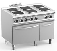 Cuisinière électrique Dexion Lux 700 - 110/73 avec four électrique - Planchas de cuisson rondes - 20,9 kW