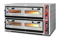 Four à pizza GMG Classic Lux 6+6 33cm 400V avec cheminée