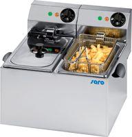 Saro Elektro-Doppel-Fritteuse Profi 6+6 Liter