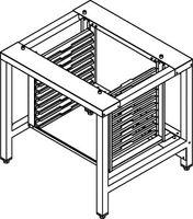 Paire de rails pour soubassement SFCM pour fours mixtes et ventilés Dexion