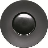 Kontrast Teller flach mit breiter Fahne Ø 300 mm, schwarz