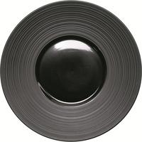 Kontrast Teller flach mit breiter, strukturierter Fahne Ø 260 mm, schwarz