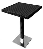 Table de bar Bovino 70 x 70, noir