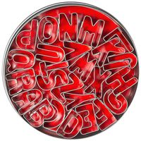26emporte-pièces «lettres»