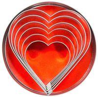 Ausstechform ''Herz'' Länge 45 - 93mm, Höhe 30mm - 6 Stück