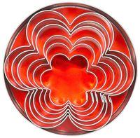 Emporte-pièces «fleur»' diamètre 4 - 9,5 cm, hauteur 3 cm - 6 pièces