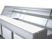 Porte coulissante en plexiglas Profi200, vitre frontale bombée
