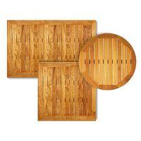 Plateau de table teak wood rond 60 cm ⌀