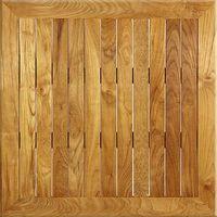 Plateau de table teak wood carré 60x60 cm