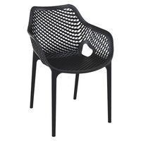 Chaise de terrasse Air Armchair noire – 4 pièces