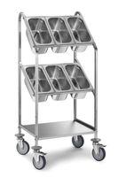 Chariot à couverts PROFI avec deux étagères pour 8bacs GN 1/3-150