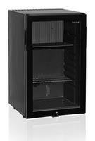 Mini-bar 52 noir avec porte vitrée