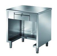 Table de caisse PROFI fermée sur 3côtés avec tiroir verrouillable 1200x700x890