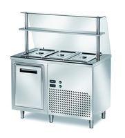 Ausgaben Kühltisch PROFI gekühlt B200 mit Flügeltüren 1200x700x890 - 3x GN 1/1