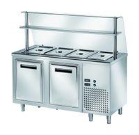 Ausgaben Kühltisch PROFI gekühlt B200 mit Flügeltüren 1500x700x890 - 4x GN 1/1
