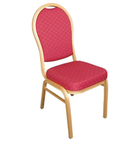 Bankettstühle Bolero mit runder Lehne, rot 4 Stück