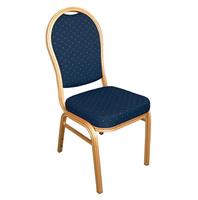 Bankettstühle Bolero mit runder Lehne, blau 4 Stück