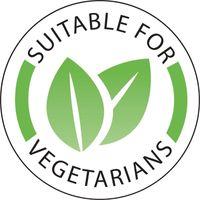 """Etikett """"Vegetarisch / Suitable for Vegetarians"""" - 1.000 Stück"""