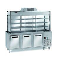 Vitrine réfrigérée de libre-service PROFI 1500x700x2000 – 4x GN 1/1